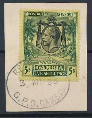 [51181] Gambia 1922-27 good Used Very Fine stamp on paper