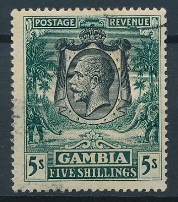 [51182] Gambia 1927 good Used Very Fine stamp $80 (multiple CA wtmk)