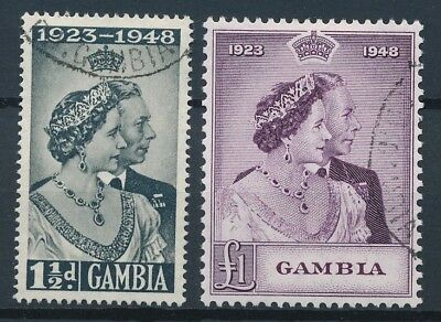 [51186] Gambia 1948 good set Used Very Fine stamps $25