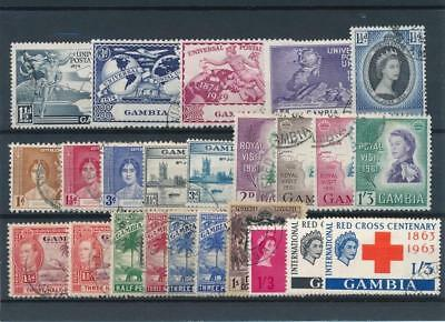 [51187] Gambia good lot Used Very Fine stamps