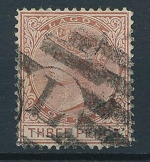 [51371] Lagos 1876 good Used Very Fine stamp (CC watermark)