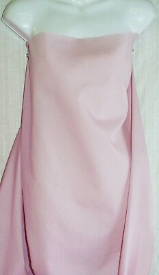 """Pale Pink Broadcloth Cotton Polyester Blend Fabric 45"""" Wide Sold By the Yard NEW"""