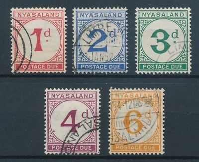[51735] Nyassaland Due 1950 good set Used Very Fine stamps