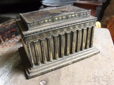 Antique Early 1900s Jennings Brothers Lincoln Memorial Washington DC Box
