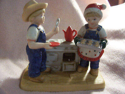 """Home Interiors  Denim Days 1985 """"COOKIES FOR SANTA"""" #59177-06 WITH TAG"""