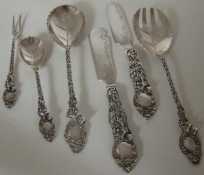 Vintage Silver Oyster Set in fitted Case 800 silver W. & J. Wagner Augsburg
