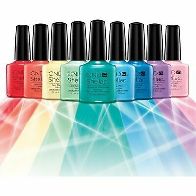 CND Shellac UV Nail Power Polish All Colours..All Collections... Top & Base Coat