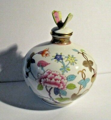 HEREND Chinois Perfume Bottle Cork & Wand Butterfly Finial