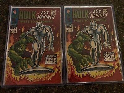 2x Tales to Astonish #93 1967 Hulk vs. Silver Surfer Classic Cover High End