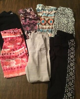 Lot Of Girls Leggins 7 Pairs Justice/Aeropostale/epic Threads