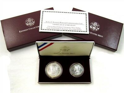 1998-S Kennedy Collector's Set - Silver RFK Dollar & JFK Half - True Auction