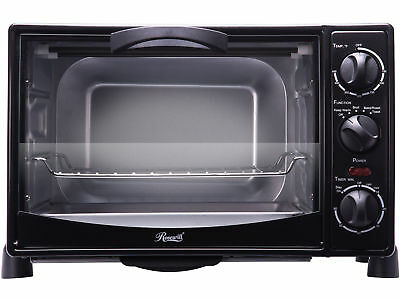 """New Toaster Oven Broil 6-Slice 12"""" Pizza Bakeware Pan Set Stainless Steel Black"""