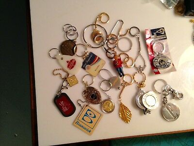 Vintage Lot Of Mixed Keychains Amoco, Penny, Bowling, Various Parts