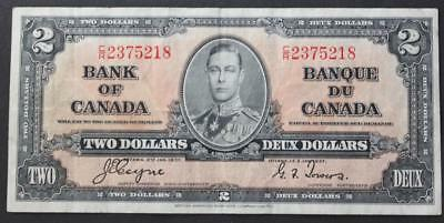 Canada 1937 Two Dollar Note, Coyne/Towers, CR2375218, Crisp VF