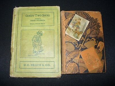 Lot of 2 Very Old Books Children's Antique Goody Two Shoes & Ruth's Test 1884