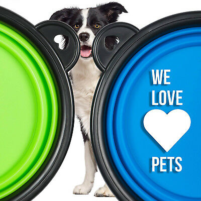 Dog Bowl Portable Foldable Collapsible Silicone Pet Cat Dog Food Water Feeding