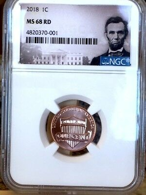 2018-P Lincoln Shield Cent NGC MS 68 RD * Top Pop Rarity! *