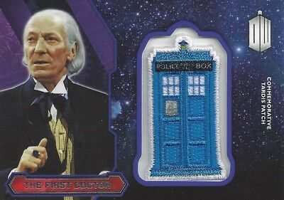 Patch Silver Foil Tardis 1st First Doctor Commemorative Doctor Who 2015 Topps