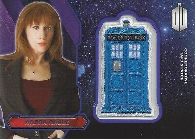 Patch Silver Foil Tardis Donna Noble Commemorative Doctor Who 2015 Topps Tate