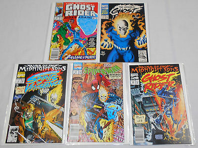 1991 1992 GHOST RIDER LOT OF 5 Comics Marvel Various Mixed Lot Spider-Man