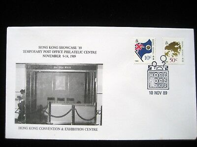 Hong Kong Showcase '89 Temporary Post Office SouvenirCover