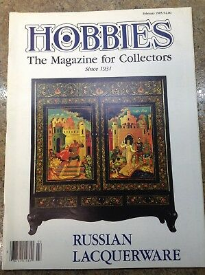 Hobbies: The Magazine for Collectors, Feb 85 on Russian Lacquerware, SHIPS FREE