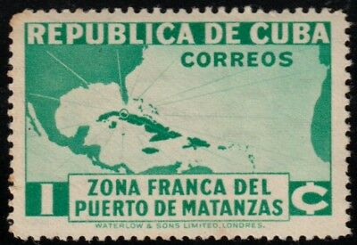 1936 Caribbean Stamps Sc 324 Map of the Caribbean Sea  MNH