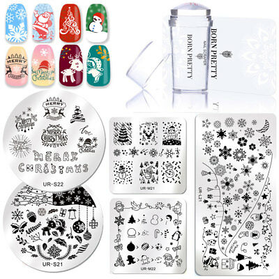 3pcs/set Nail Art Stamping Plate Silicone Nail Stamper Scraper Manicure DIY Tool