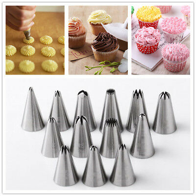 24 Style DIY Flower Icing Piping Nozzles Tip Pastry Cake Baking Decorating Tools