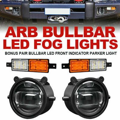 2x 30W ARB Bullbar Led Fog Lights & LED Front Indicator Parker Light 4×4 Truck
