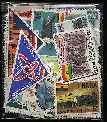 Ghana Bag 120 Stamps Mostly Mounted Mint