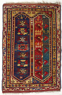 A Fabulous and Rare Antique Turkish Anatolian Megri Rug from about 1850