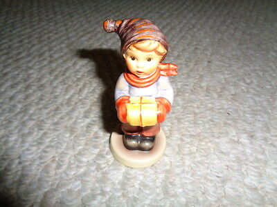 Hummel Goebel West Germany For Me figurine #2067/B holiday yellow wrapped gift