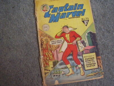 CAPTAIN MARVEL Adventures.# 75.1952.Fawcett Australian issue