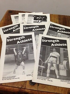 The Strength Athlete Magazine 1980s. 8 X Different Issues. Vintage Bodybuilding.
