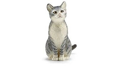 Schleich 13771 Cat Sitting Model Toy Animal Model Figurine Rare Excellent Great