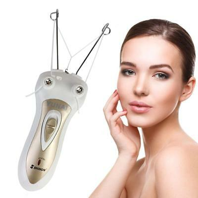 Electric Body Facial Hair Remover Pull Surface Device Defeatherer Cotton Thre...