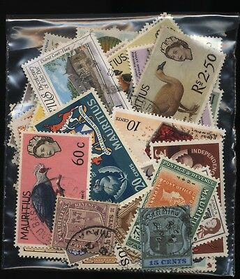 Mauritius Bag 80 Stamps Mostly Used