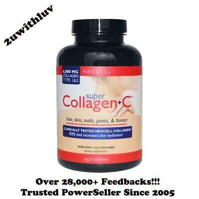 Neocell Super Collagen + C  6000Mg Type 1 & 3 250 Tablets *free Express Post!*