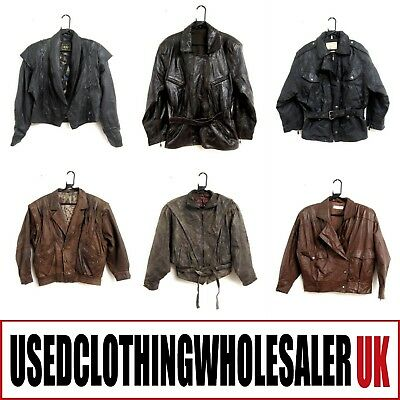 10 Women's Vintage Real Leather Jackets Glam Rock Wholesale Hipster Clothing #2