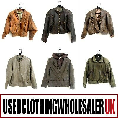 11 Women's Vintage Real Leather  Jackets Glam Rock Wholesale Hipster Clothing