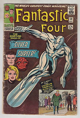 FANTASTIC FOUR 1961-96 #50 G/VG: 3.0 Silver Surfer vs. Galactus