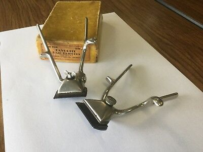 Winchester and Clauss Hand Held Hair Clippers Vintage pair Old Barber Collect