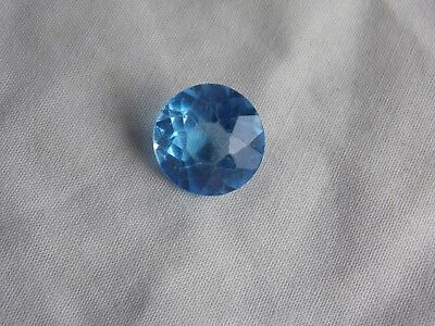 Large Faceted Blue Topaz Coloured Stone For Mounting