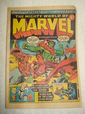 The Mighty World of Marvel No.18 3rd Feb 1973