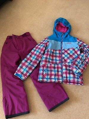 Girls  Ski Suit Roxy Jacket & D2B Ski Trousers  , Age 12, Great Condition
