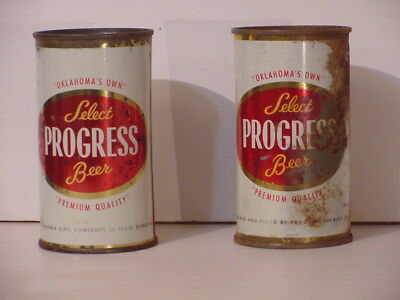 Progress Beer Flat Top Cans From Oklahoma City Ok 2 For 1