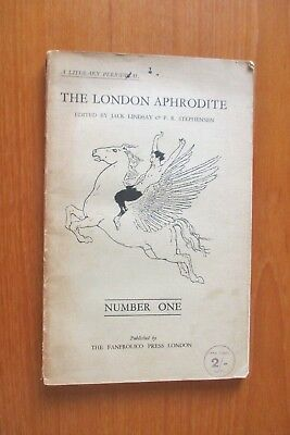 August 1928 The London Aphrodite Literary Magazine First Ever Issue Jack Lindsay