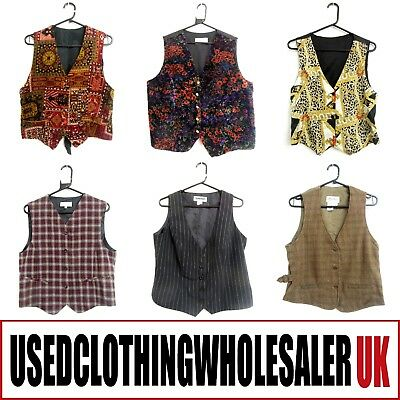 35 WOMEN'S VINTAGE WAISTCOATS BOHO HIPPIE PATTERNED 70's 80's WHOLESALE CLOTHING