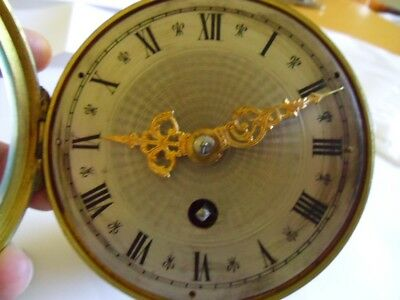 Japy Freres Front Wind Clock Movement With Platform Escapement,working.